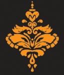 Beauty box logo black and orange